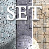 floor tiling set 001