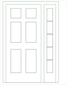 Single-Raised Panel with 1 Sidelight-H.rfa