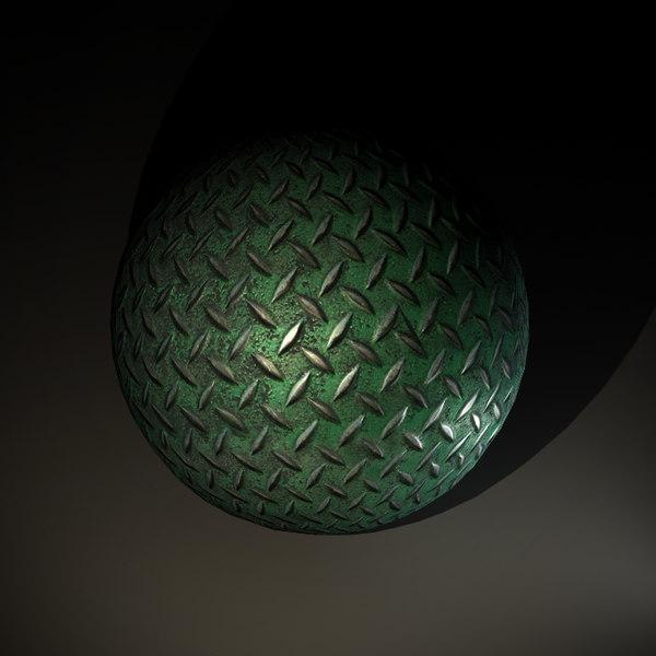 Steel Diamond Floor Texture - Green Paint