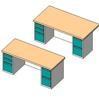 gx_FURN Desk Pedestal Double