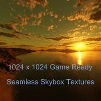 Island Sunset Skybox High Resolution
