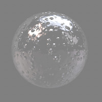 glass bubbled maya material
