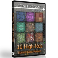 10 High Res Stained Glass Mosaics
