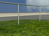 Chain Link Fence 1 - metal - 3ds MAX2010 Mental Ray Material