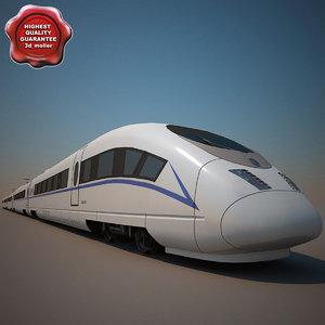3ds chinese crh-3 high-speed train