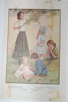antique fashion print costume design