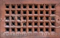 Red brick exterior vent