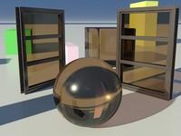 Glass Tinted Transparent Orange 1_01 - Mental Ray material