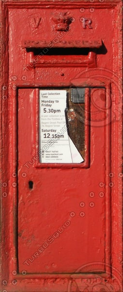 Victorian Royal Mail letter box