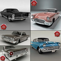 Retro Cars Collection V8