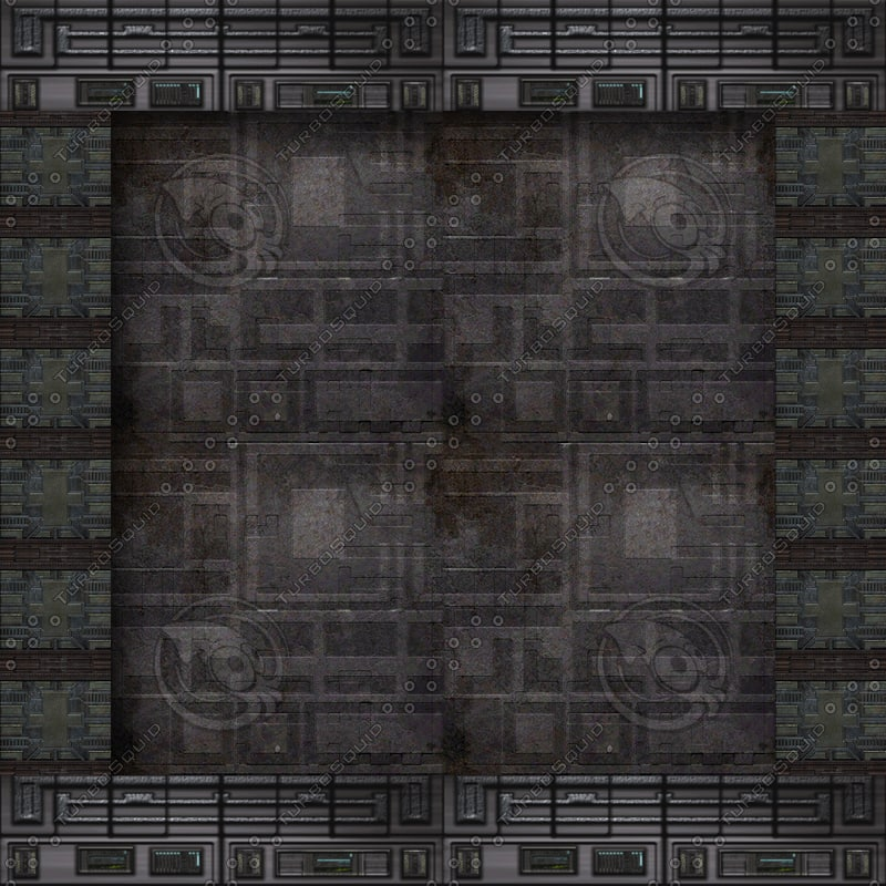 Gothic Tech Hallway Plain Wall