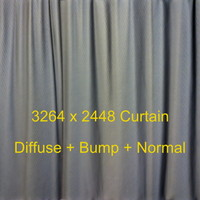 Curtain High Resolution Diffuse + Bump + Normal Texture Maps