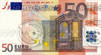 50 fifty euro banknote high resolution texture