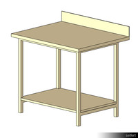 Commercial Work Table 01052se