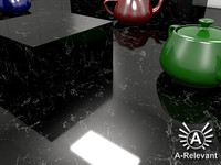 Marble_5_Black_S_Mat - Procedural Marble Material - 3ds Max 2010 Mental Ray