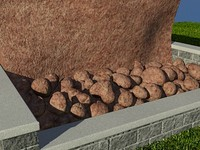 Rock_Red_1 - PROCEDURAL rock or stone material - 3ds max2010 Mental Ray shader