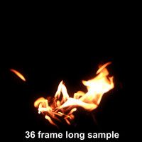 campfire looping sequence 91 frames