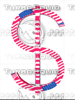 dollar sign.american Flag