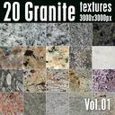 20 High Res Seamless Granite Textures Vol.01