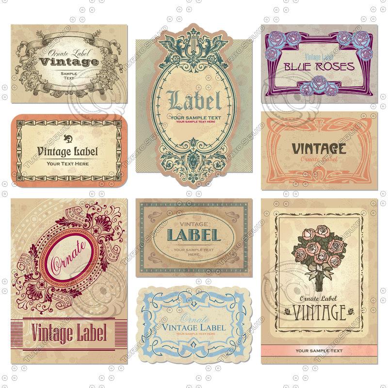 Shapes Eps Vector Label Vintage