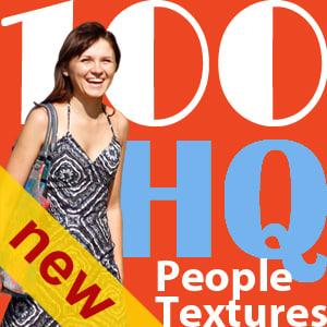 NEW 100 people textures vol.4