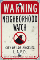 Los Angeles LAPD neighborhood watch sign