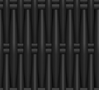 Plastic Wicker black.