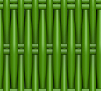 Plastic Wicker green.
