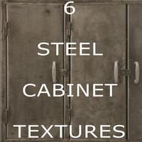 6 Steel Cabinet Textures