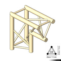 Truss 33 Corner 2-way 90 apex in 00190se