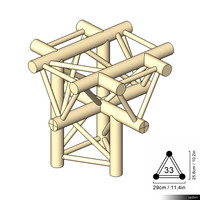 Truss 33 Corner 5-way Cross apex down 00192se