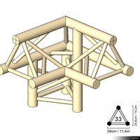 Truss 33 Corner 3-way 90 apex up left 00193se