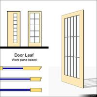 Door Leaf Muntin 00228se