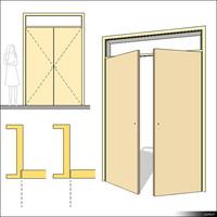 Door Swing Double Transom 00232se