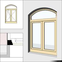Window Case Double Trans Arc 00239se
