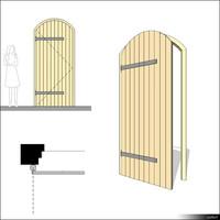 Door Single Leaf Arc Ledged 00260se