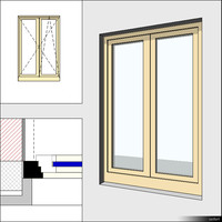 Window Casement Double 00276se
