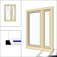 Window Double Swing 00277se Mullion