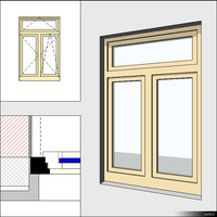 Window Casement Double Transom Mullion 00281se