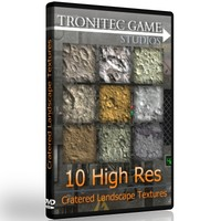 10 High Res Cratered Landscape Textures
