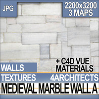 Medieval Marble Wall Texture & Material A