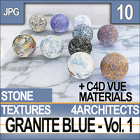 Granite Blue Textures & Materials Vol. 1