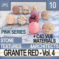 Granite Red Vol. 4 Textures & Materials [Pink Series]