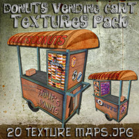 Donuts Vending Cart Textures Pack