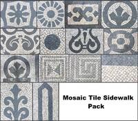 Mosaic Tile Sidewalk Pack