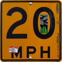 Los Angeles road sign speed 20 mph