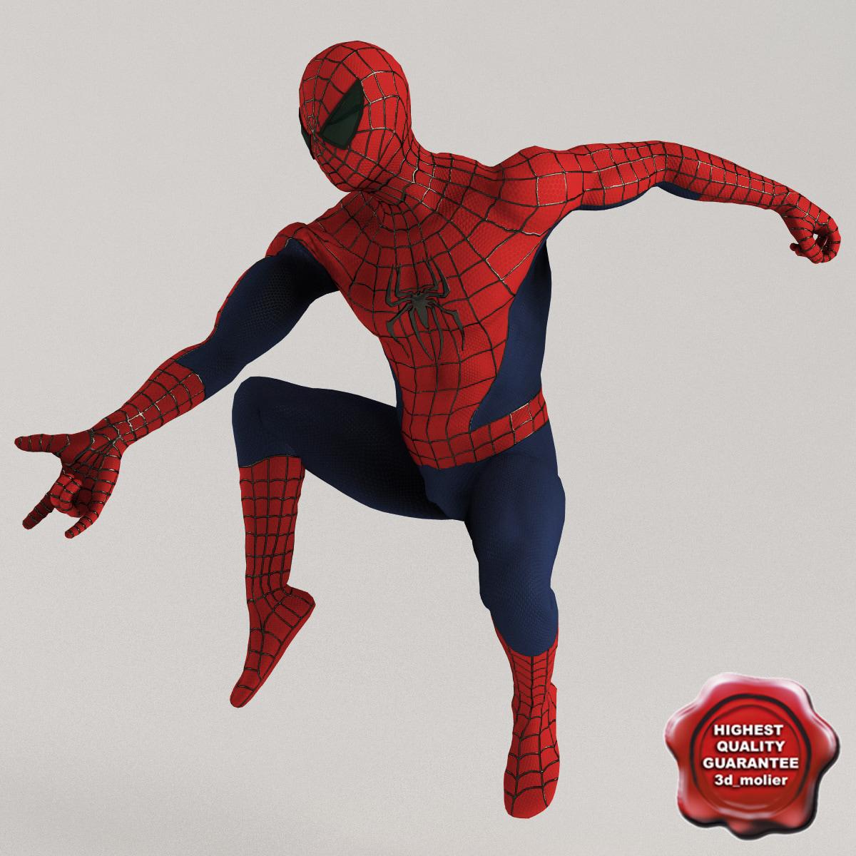 spiderman pose2 3d model