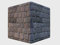 Seamless High-rez Square Cobblestone with Normals and Spec