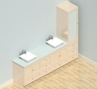 Modular Vanity Set