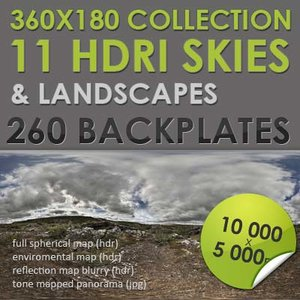 HDRI Skies and Landscapes Collection [P027-P037]